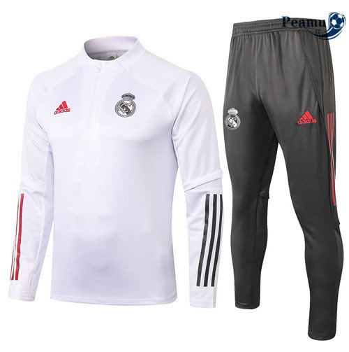 Tuta Calcio Real Madrid Bianca 2020-2021