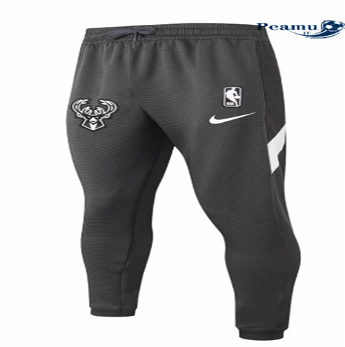 Peamu - Pantaloni Thermaflex Milwaukee Bucks - Nero