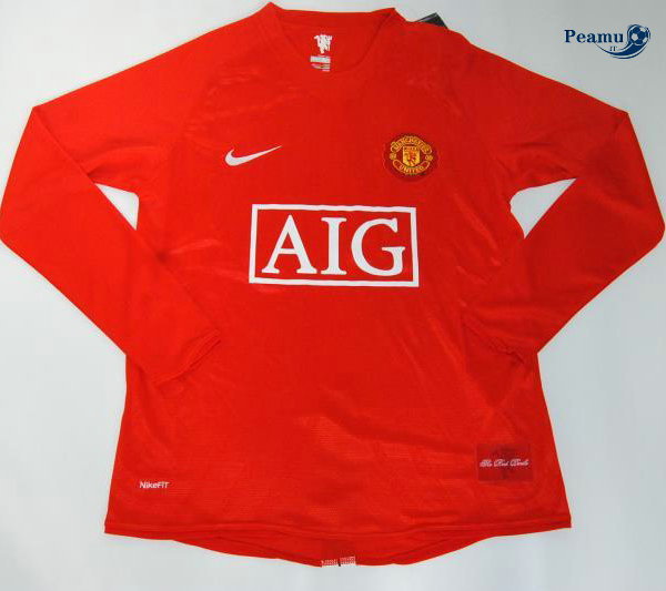 Classico Maglie Manchester United Manica lunga 2007-08 sleeve