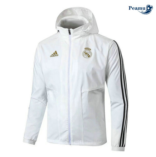 Giacca A Vento Real Madrid Bianco/Nero 2019-2020