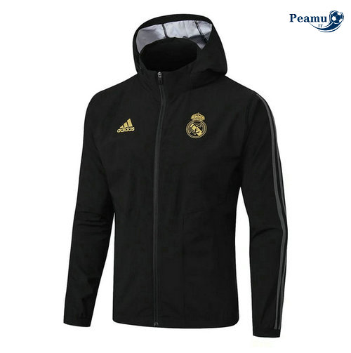 Giacca A Vento Nero Real Madrid 2019-2020