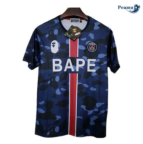 Maglia Calcio PSG BAPE popular logo Paris fashion 2019-2020