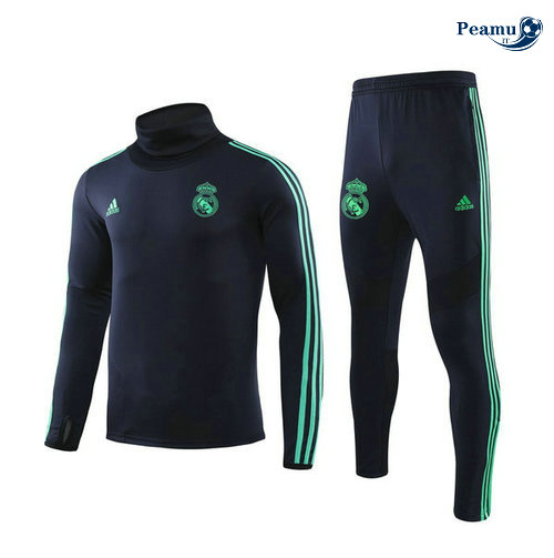 Tuta Calcio Real Madrid Champions League Blu navy/Azzurro Collo Alto 2019-2020