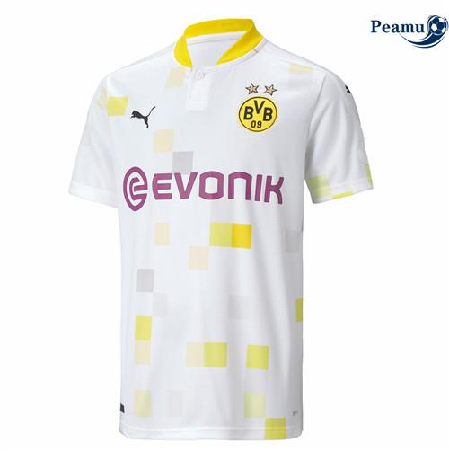 Nuova tuta Maglia Calcio Borussia Dortmund Bianca/Giallo 2020-2021 ...
